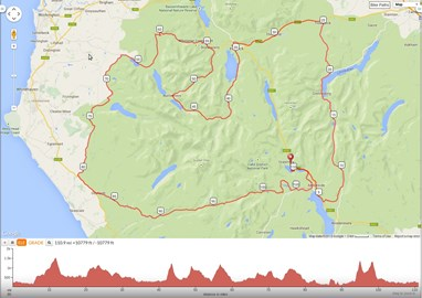 Fred Whitton route and elevation profile