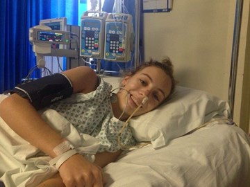Me a few days post-op, recovering  in Intensive Care at Stanmore,