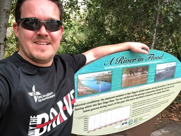 Brett on an OTB training run this week along the San Diego River