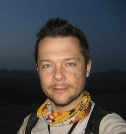 Nick, at dawn, day 5 Marathon de Sables