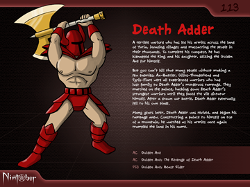 Nintober #113. Death Adder (Golden Axe)
