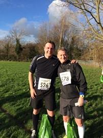 Me and Mark Duerden at 4 Villages Half Marathon