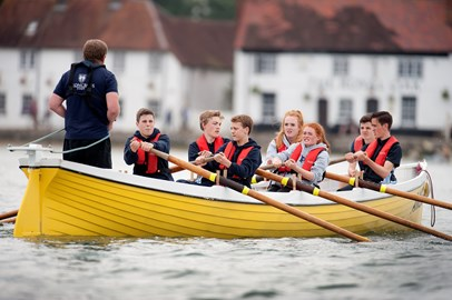Gig Rowing at Meoncross