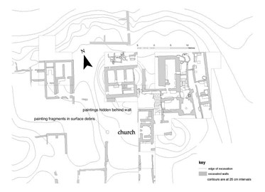 Plan of Kom el-Nana monastery