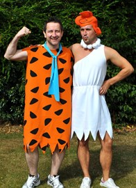 Nick & Jason as Fred and Wilma