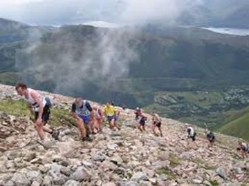 Climbers on Ben Nevis