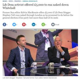Kelvin's £5,000 charity offer