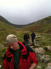 On the way up Helvellyn