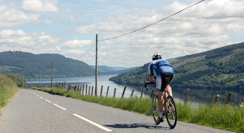 Loch Tay in Perthshire during the final 250 mile training ride on 20 June '17