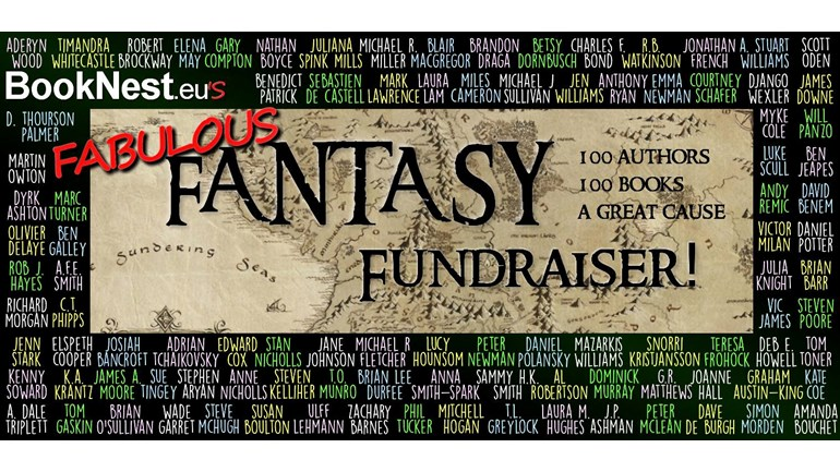Booknest.eu's Fabulous Fantasy Fundraiser; donate to Doctors Without Borders; get a chance to win cool signed books including Ours Is the Storm