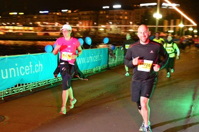 First big run... in the dark in Geneva