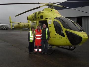 Angela, Me and James who saved my life.