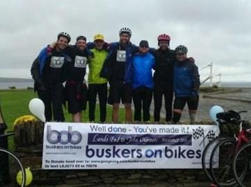 Buskers on Bikes at John OGroats