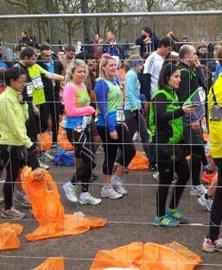 Liz and Priscilla - Paris half marathon