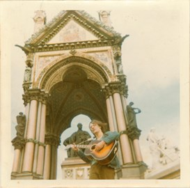 John at the Albert Memorial in London 1970