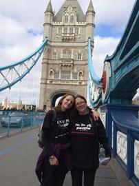 Mum and me finishing 25K at Tower Bridge