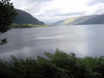 A view up Loch Lochy looking North East