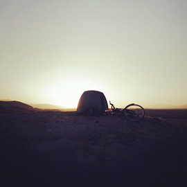 The Bike, Tent & the Desert