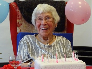 Margaret celebrating her 98th birthday!