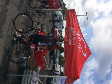 BHF Cotswold Bike Ride Ian Joseph