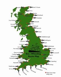Sea-Wheeling Route Map