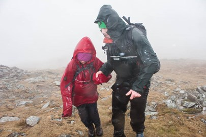 Latest walk on Dale Head through driving wind and rain