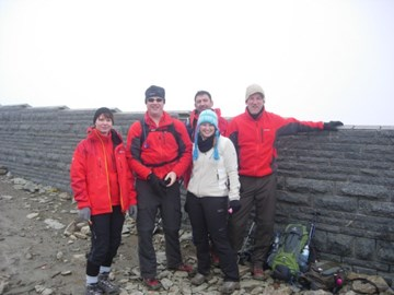 On top of Snowdon