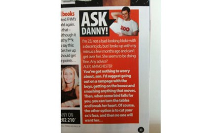 Danny Dyer's Zoo advice column