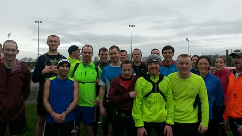 Fergal & Christine doing a 15 mile run with Gerard and Co marathon pace runners last Sat