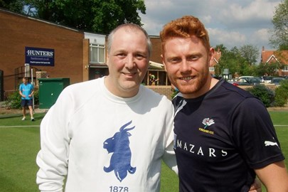 After bowling at Yorkshire & England's Jonny Bairstow