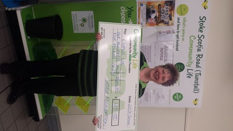 5th event...a cheque off the Asda Foundation which took our raffle total upto £405