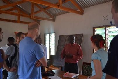 Meeting with Elias Mzugula, the Headteacher at Kiteghe Primary School.