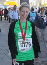 Showing off my medal - Cardiff half 2011