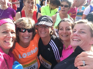 On the start line with Becca, Salima, Karen & Lorna
