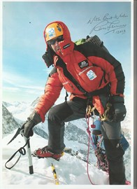 £8.50 raised by this signed photo of Ranulph Fiennes