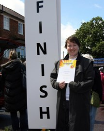 With my (now a bit soggy) certificate.