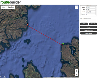 Big Minch Swim route