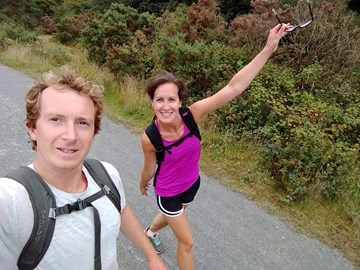 First long distance training walk today. 27.5km from Scorrier to Feock and back. Our legs aren't too pleased right now!  Thanks to those who have already donated- it's making the achey muscles worth it!