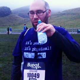 Official time was 1 hr 23 mins and 17 seconds. Delighted :-)