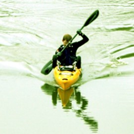 In training for the Murray River paddle