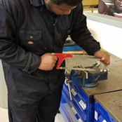 Morris Deer was able to complete his apprenticeship with the tools we helped him buy