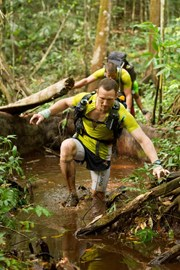 competitor in the jungle marathon