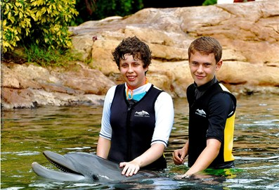 James and me with the dophin