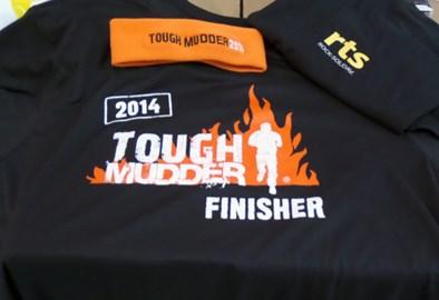 Tough Mudder Finishers Tee Shirt and Headband