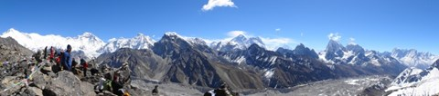 Everest massif from Gokyo Ri, 5364m