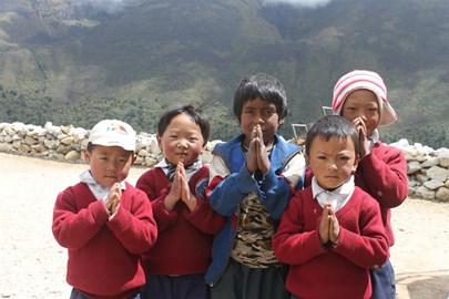 Namaste from the children of Pangboche