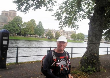 Four miles after the start in Inverness