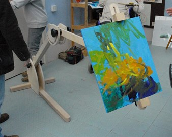 The first Easel for Birchwood Painters