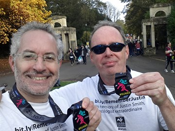 Ben and Paul: Marathoners for Justin Smith Foundation!