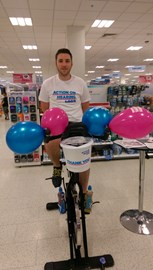 Dan ready for his 6 hour bike challenge!